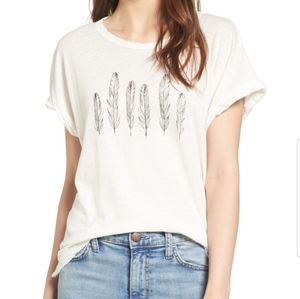 Nwt Current Elliott rolled crew graphic tee